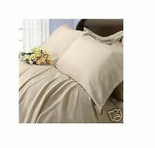 Solid Beige Full Size 450 Thread Count Sheet Set 100 Cotton Deep Pocket Bed Sh