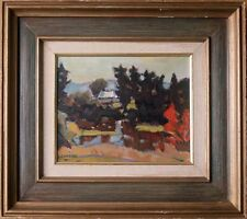 HELMUT GRANSOW (1921-2000), CANADIAN - ORIGINAL OIL LANDSCAPE PAINTING ON BOARD