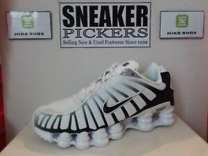 Nike Shox TL - AV3595 102 - White / Black - Metallic Platinum - Size: 9 - NEW
