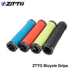 MTB Road Bike Handlebar Grip Durable Alloy + Rubberr Lock on Anti Slip Grips