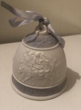 New listing Lladro Porcelain 1993 Christmas Bell Mint Violet Spain Ornament No Box