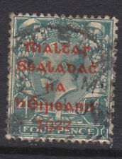 IRELAND, Scott #10: 4d, Used, 1922 Dollard Overprint in Red