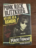 Marky Ramone Signed/ Autographed Book Punk Rock Blitzkreig My Life As A Ramone