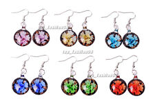 Wholesale 6Pair Round Flower Murano Glass Silver P Earrings Gift Jewelry