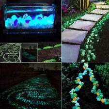 1000 Glow In The Dark Pebbles Luminous Stones Garden Walkaway Aquarium Fish Tank