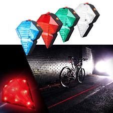 Waterproof 8LED +2 Laser Bike Bicycle Light Rear Tail Flashing Safe Warning Lamp