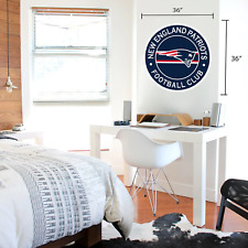 New England Patriots 36x36 Team Stripe Logo Repositional Wall Decal