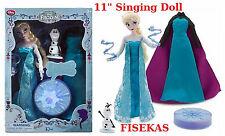 Disney Store Exclusive Singing Elsa Deluxe Doll Set 11 in Frozen NEW 2015