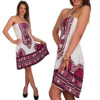 Minikleid Partykleid Strandkleid Neckholder Kleid Bandeau Maxirock Röcke
