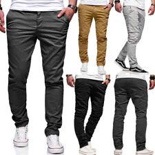 Herren Hose Chinohose Regular Slim Fit Chino Cargo Jeans Beige/Schwarz/Grau NEU
