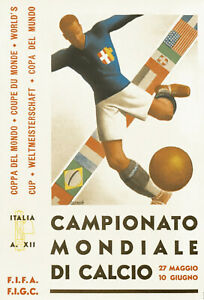 1934 FIFA World Cup Poster (Italy) - 8x10 Color Photo