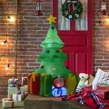 Árbol de Navidad Inflable 1.5m Iluminado LED Decoración Navidad Patio Hinchador