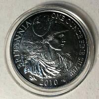 2010 Great Britain Britannia 2 Pound 1 Ounce Silver Coin