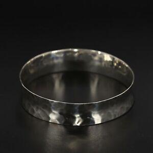"""Sterling Silver - RLM Robert Lee Morris Hammered Bangle 8"""" Bracelet - 24.5g"""