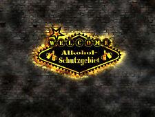 Alkohohl Schutzgebiert Bie Bar Schild retro no Blechschild Tresen Barhocker sign
