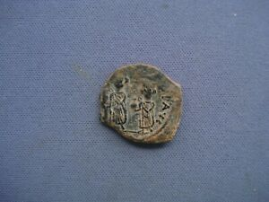 610-641 AD Byzantine Empire - Heraclius  Heraclius Constantine - ½ Follis - A030