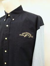 Ralph Lauren Polo Sportsman Trout Embroidered Long Sleeve Navy Blue Mens Size XL