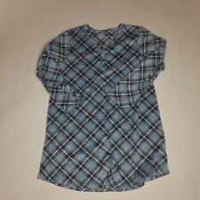 Croft & Barrow Intimates Lg Fleece Pajama Nightgown Long Sleeve Angled Plaid