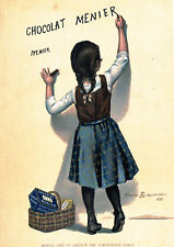 "Vintage French ""Chocolat Menier"" Reproduction Poster, Home Wall Art, Print"