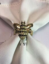 KATE SPADE NEW YORk PICNIC PERFECT PAVE BEE RING SIZE 6 w/ KS Dust Bag New