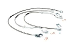Rough Country Stainless Brake Lines Set (fits) 1999-2004 Ford Super Duty F250