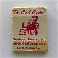 The Crab Cooker Seafood Restaurant Surfers Holy Mackerel Beef Matchbook (MK43)