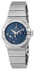 123.15.27.20.03.001 | NEW OMEGA CONSTELLATION BLUE DIAL DIAMOND WOMEN'S WATCH