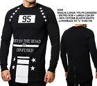 Maglia da Uomo con Stampe Maglietta T-Shirt a Maniche Lunghe Moda Casual Fashion