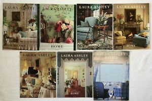 Vintage Lot of 7 Laura Ashley Home Catalogs 1990-92 1998 Design Fabric Pamphlets