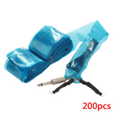 200 x Disposable Tattoo Machine Clip Cord Sleeves Cover Bags Clean Safety Supply