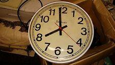 "Vintage Industrial SIMPLEX 13"" wall CLOCK # 804-009;  Runs good. FAST S&H"