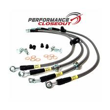 Stoptech Steel Braided Brake Lines 2008-2011 Subaru Impreza WRX STi Front & Rear