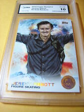 JEREMY ABBOTT FIGURE SKATING 2014 TOPPS US OLYMPICS GOLD RAINBOW # 2 GRADED 10