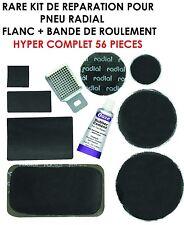 PROMO KIT REPARATION PNEUS RADIAL! FLANC + BANDE DE ROULEMENT 56 PIECES 4X4 QUAD