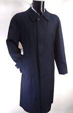 AQUASCUTUM J ROVER Trench Rain Coat NAVY Blue DETACHABLE WOOL LINER 38 Made UK