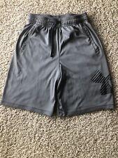 Under Armour Athletic Shorts Boys Youth Medium Loose Gray HeatGear