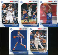 2019-20 Panini NBA Hoops Philadelphia 76ers Team Set of 10 Cards