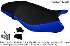 Royal Blue & Negro Custom encaja Triumph Street Triple 675 13-15 Doble Cubierta De Asiento