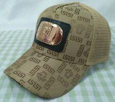 New Versace Khaki Baseball Hat Adjustable Buckle Casual Style Unisex