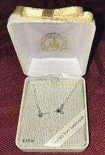 Disney Parks Silver Mickey Mouse Key Necklace With Swarovski Crystal New