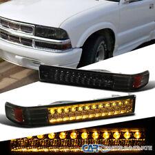 For 98-04 Chevy S10 Blazer Sonoma Pickup Smoke LED Bumper Signal Parking Lights