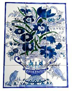 Fliesenbild 45x60 handbemalte Fliesen getarnte Vögel mosaikfliesen Art deco Bild