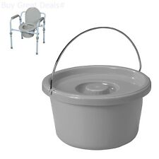 Folding Bedside Commode Seat Portable Bathroom Toilet Safety Potty ...