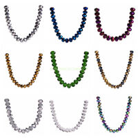 New Faceted Rondelle Crystal Glass Loose 10mm Spacer Beads jewelry 50Pcs