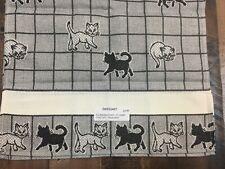 Zweigart Cat Kitchen Towel 100% Cotton 11 Count Cross Stitch Black & White