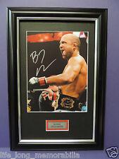 BJ PENN UFC CHAMPION SIGNED FRAMED