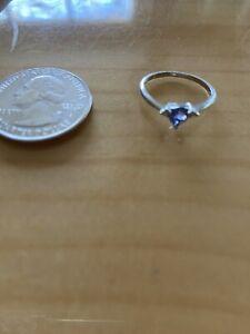 VTG Platinum And Tanzanite Ring Size 4