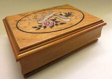 wunderschönes Schmuckkästchen aus Holz mit Spieluhr, Spiegel, Motiv: Ballerina