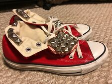 Authentic Pyramid Studs Converse All Star Red Chuck Taylor Hi High Top Shoes 5