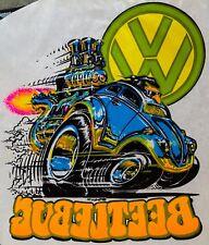 NOS 70s Volkswagen Beetle Bug Dune Buggy Hippie Hippy vTg Roach T-shirt iron-on